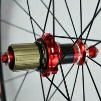 2018 горячая Распродажа 700C углеродного волокна колеса bmx Дорога велосипедное колесо 30 мм обод алюминиевый дорожный колесная V/C тормозной коле