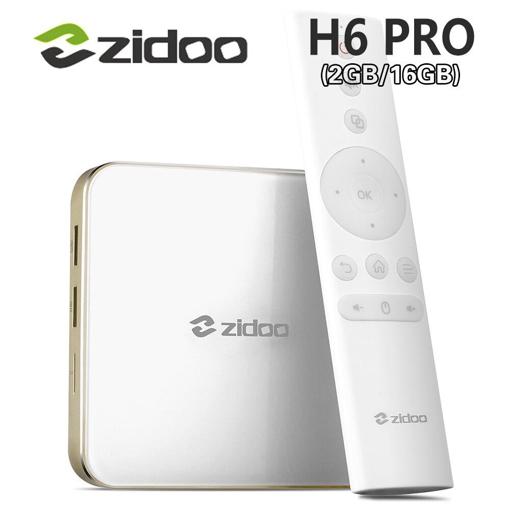 ZIDOO DDR4 H6 PRO Android 7.0 4K 10Bit HDR TV Box Allwinner H6 2GB eMMC 16GB ac WIFI 1000M LAN Dolby Digital DTS-HD Smartcolo zidoo h6 pro tv box 2gb ram 16gb rom android 7 1 2 4g 5 0g wifi gigabit lan bluetooth 4 1 smart set top box