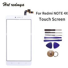 High Quality Touchscreen For Xiaomi Redmi Note 4X Touch Screen Digitizer Assembly Outer Glass Front Panel With Tools high quality gigabyte gsmart roma r2 capacitive touch screen digitizer front glass replacement touchscreen free shipping tools