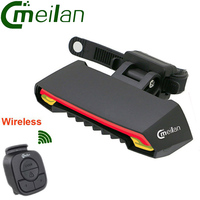 Smart Bicycle Light Wireless Bike Rear Laser Accessories Light USB Recharge Cycling Tail Waterproof Remote Turn