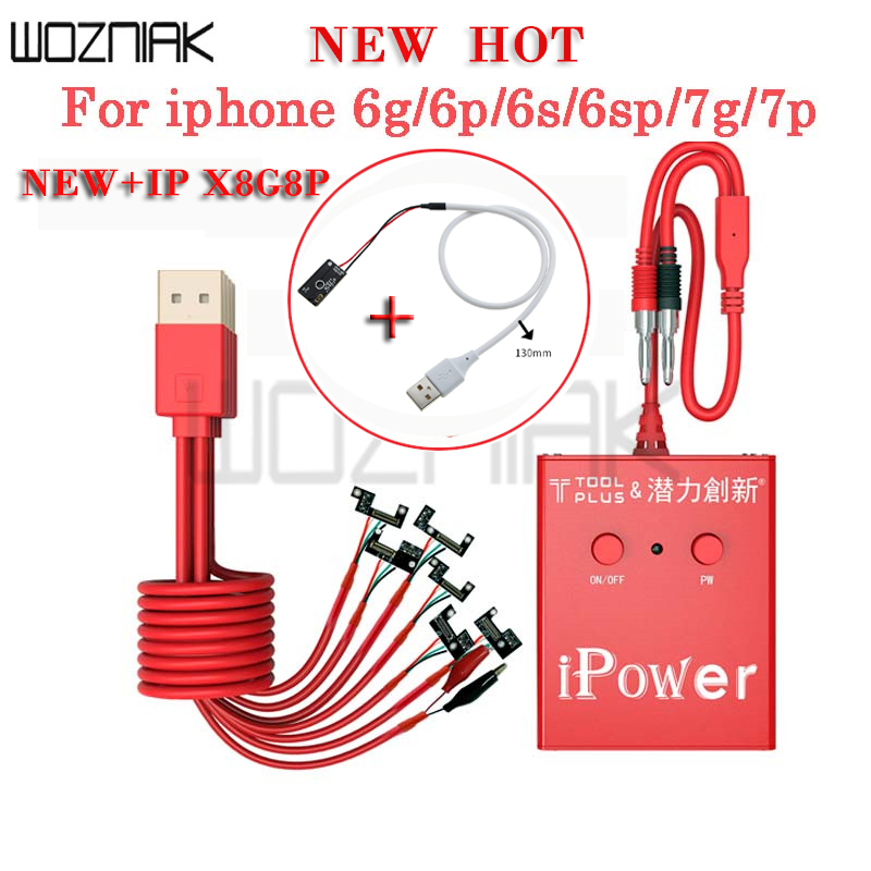 iPower test Cable Power Supply for iPhone 8g,8p 7G 7P 6S 6SP 6G 6P DC Power control test Wire
