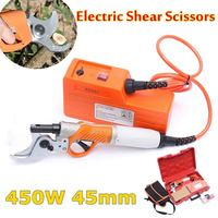 450W 45mm Electric Shears Electric Pruner for Fruit Tree Garden Scissors 36V 4400mah Li Battery Electric Pruning Shear Orchard