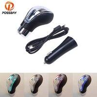 POSSBAY Multi color LED Gear Shift Knob Snake belt Shift Lever Knob Gear Stick LED Handbrake Grips for VW Kia Ford BMW Renault