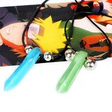 New Fashion Anime Naruto Pendant Necklace Uzumaki Naruto Cosplay Accessories Men Women Gifts Blue&Green