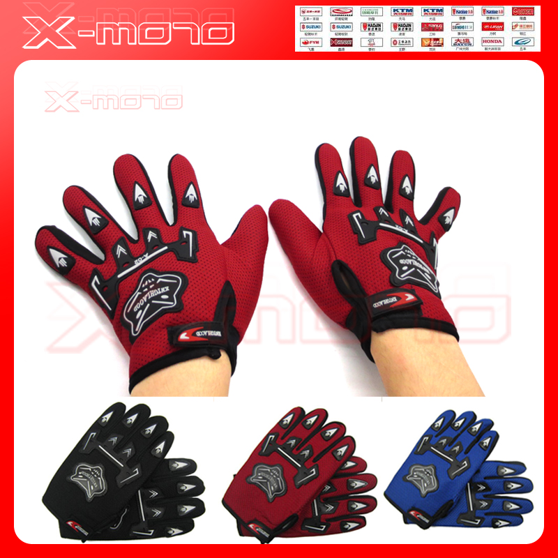 Full Finger Sports Motorcycle Gloves Bicycle Breathable Mesh Fabric Slip Motorbike Racing motocross leather