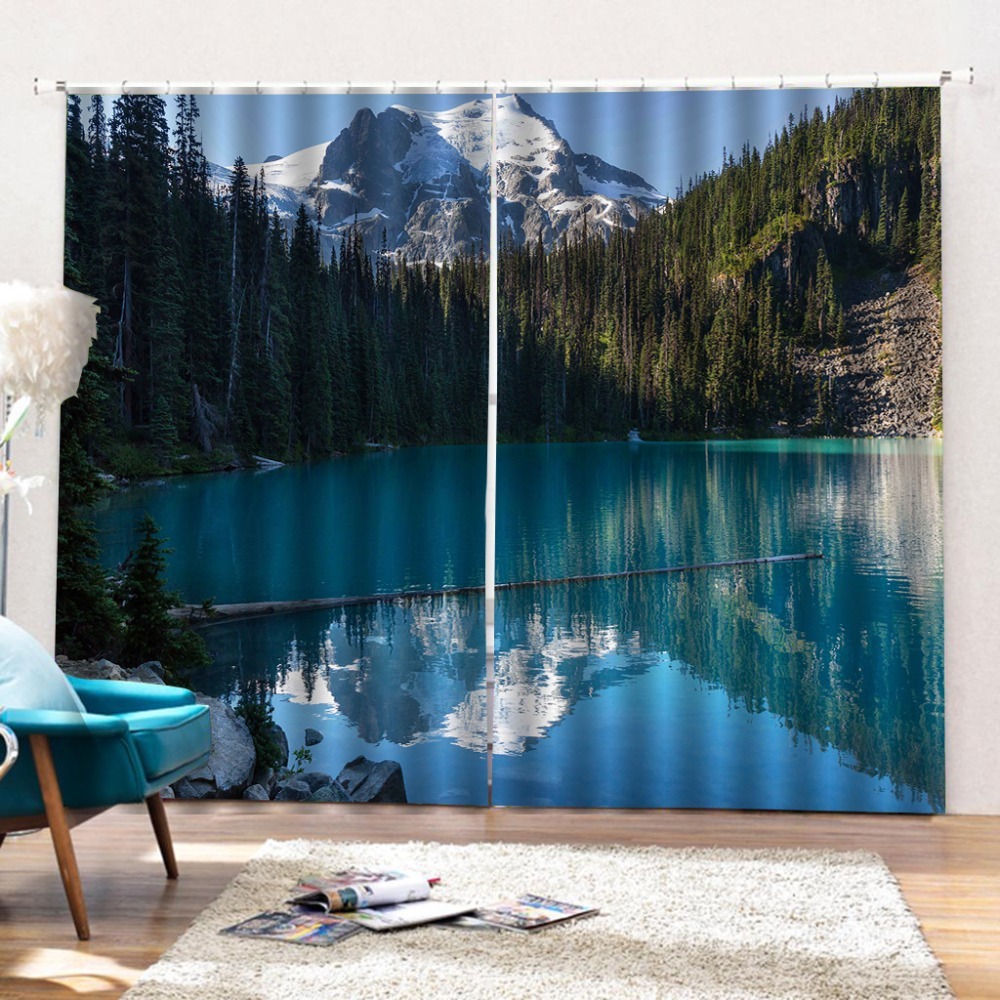 Customize Stereoscopic 3d Curtain window curtains living room Snow mountain scenery window curtain bed room  Customize Stereoscopic 3d Curtain window curtains living room Snow mountain scenery window curtain bed room