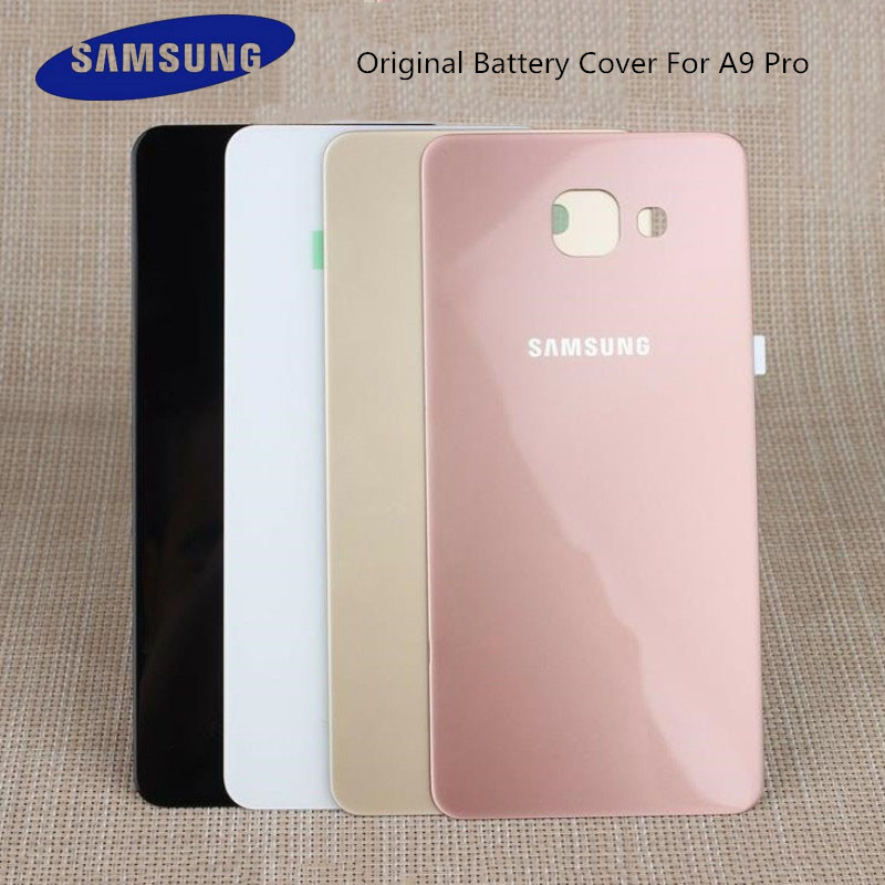 Original Samsung Galaxy A9 Pro/A9100 Glass Rear Housing Cover Replacement Back Battery Case With Adhesive Sticker