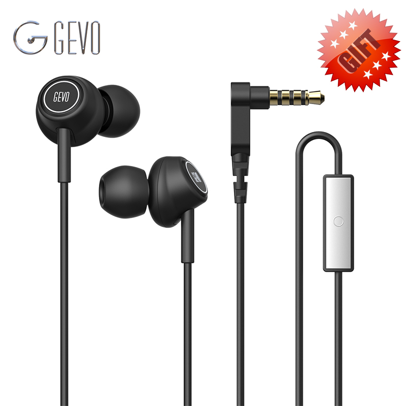 GEVO GV6 Gaming Headset Stereo Bass Pure Sound 3.5mm Wired Earphone In Ear Earbuds With Mic For iPhone Android Phone Sport
