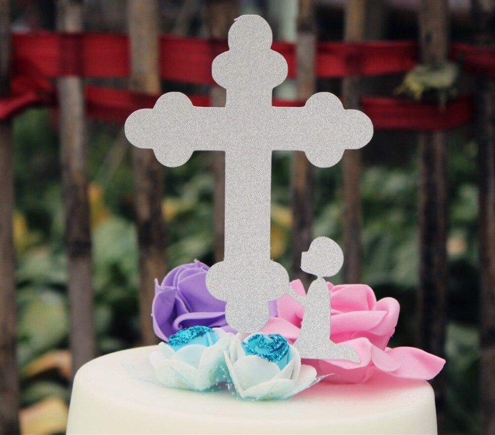 Us 929 7 Offjungen Taufe Kreuz Mit Knien Jungen Kuchen Topper Erste Kommunion Dekoration In Cake Deko Aus Heim Und Garten Bei Aliexpress
