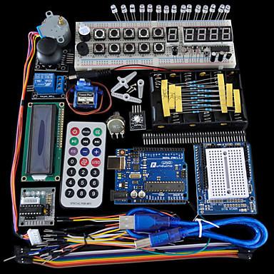 Avançado Servo Motor de Starter Kit LCD Dot Matrix LED Breadboard Básico Elemento Pacote Compatível com Arduino
