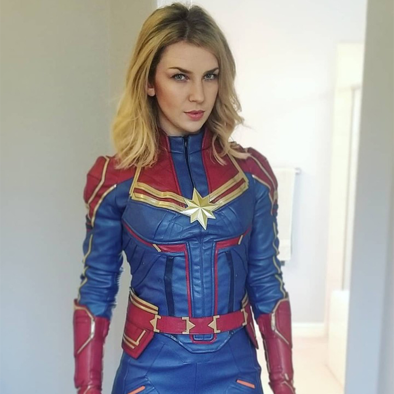 ProCosplay Captain Marvel : Ms. Marvel Carol Danvers suit Cosplay set Costume Ms. Marvel cosplay new costume & shoes mp004141