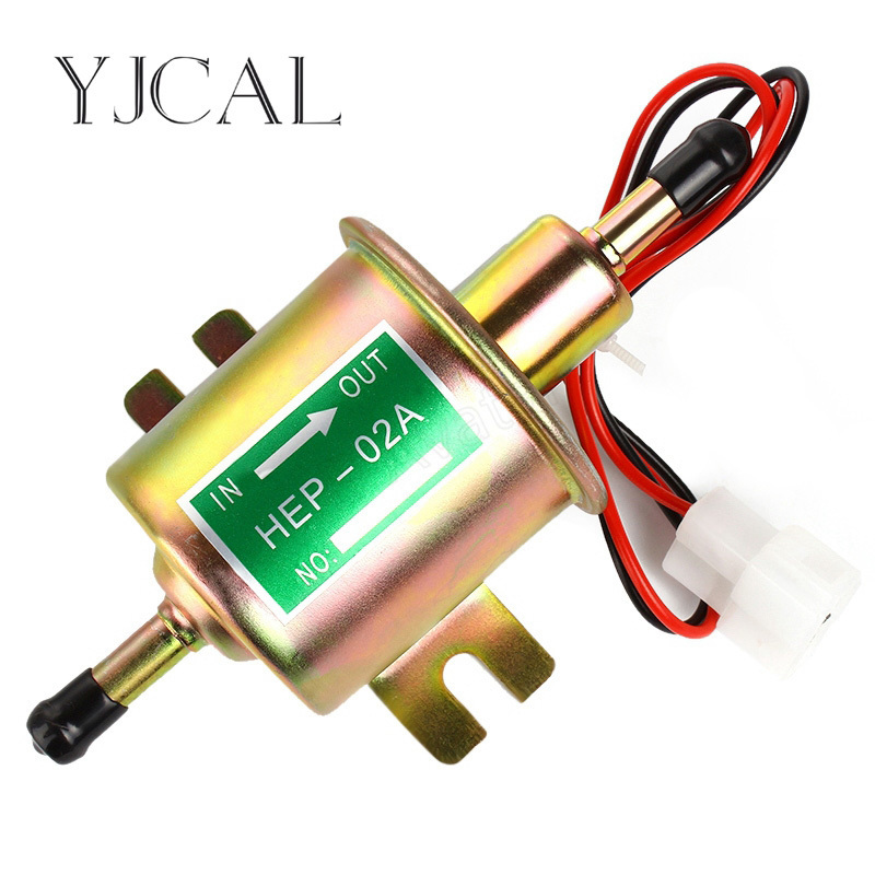 High Quality Low Pressure Universal Diesel Petrol Gasoline Electric Fuel Pump HEP-02A 12V 24V For Car Motorcycle