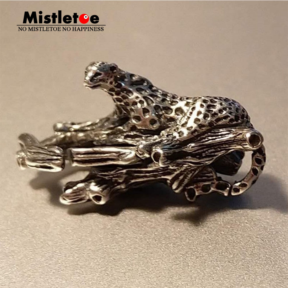 Mistletoe 925 Sterling Silver Leopard Lock Fit Faerybeads Bracelet Jewelry