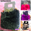 Mobile Phone Bag For Samsung Galaxy J Series Fluffy Fur Case Golden Bow Cover For 2016