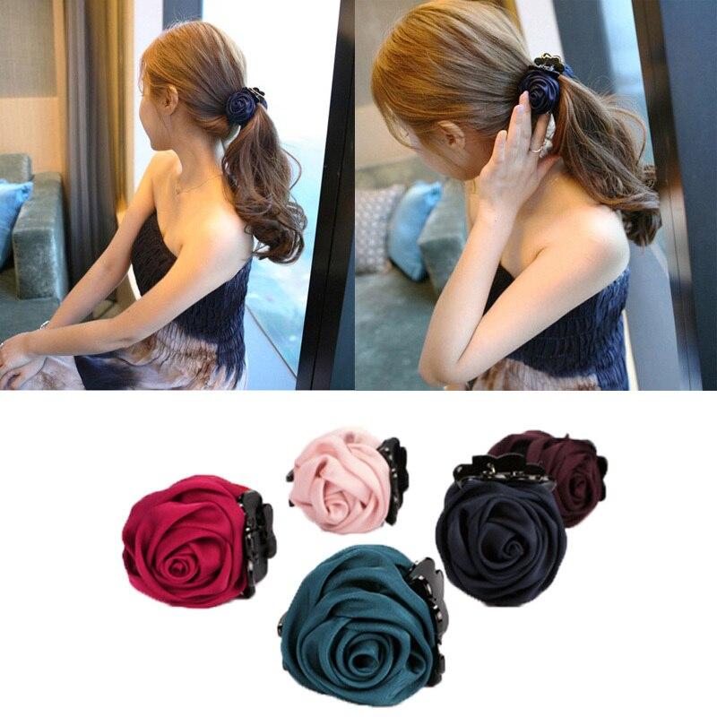 100% Vero Moda Coreano Elegante Fiore Artigli Dei Capelli Di Plastica Fascia Nastro Rosa Clip Di Capelli Accessori Per Capelli Per Le Donne Di Alta Qualità
