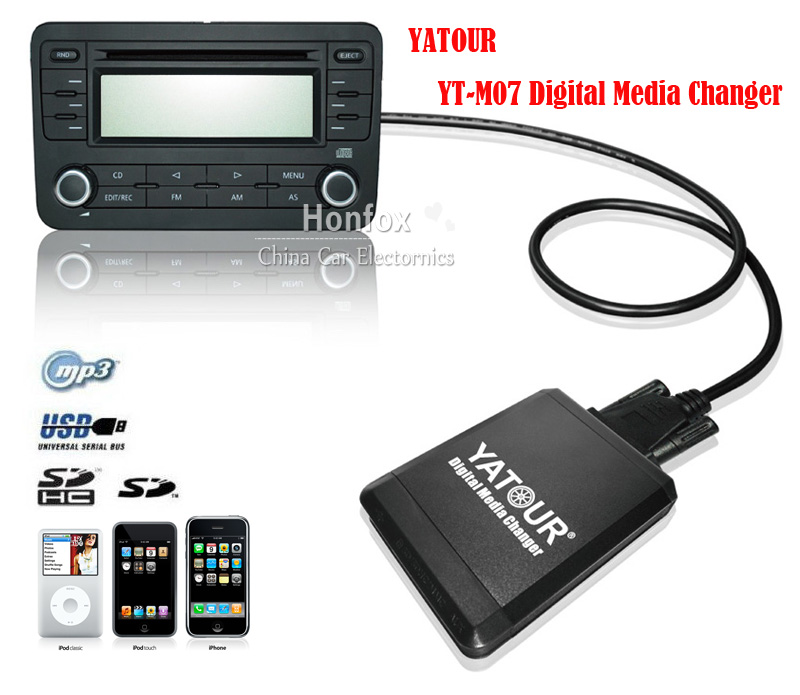 Yatour Car ipod adapter YT-M07 For Smart fortwo forfour fiat marea brava bravo iPod iPhone USB SD AUX Digital Media Changer car usb sd aux adapter digital music changer mp3 converter for skoda octavia 2003 2007