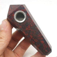 NIEUWE COLLECTIE Natuurlijke Kip Bloed Rode Crystal Quartz Toverstaf Punt Gezondheid Tabak Houder Pijp Heling