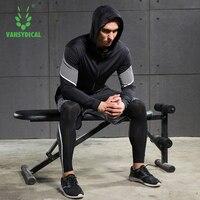 2018 Vansydical Running Suits Mens Sport Compression Shirt Running Suits Men 5pcs/set Training Tracksuits Men Gym Clothing Sets