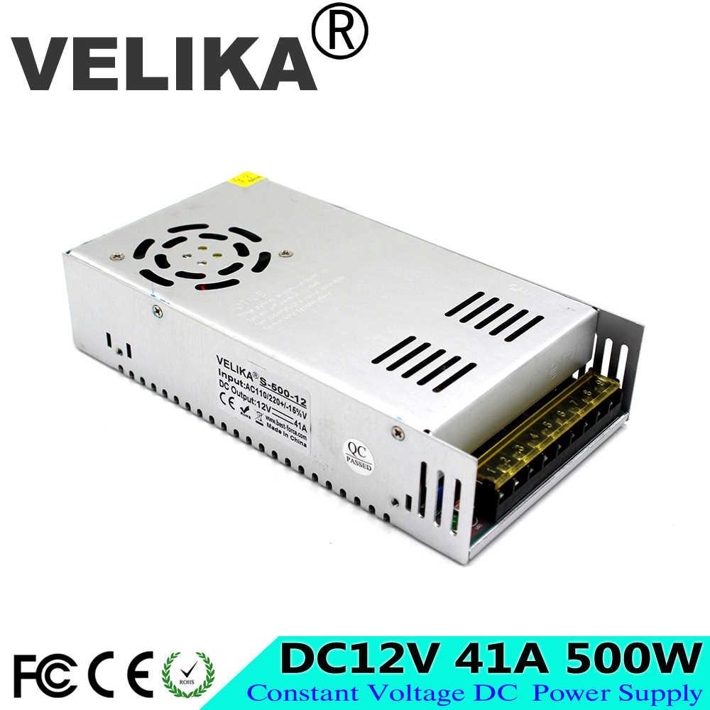 Импульсный источник питания DC12V 13,8 V 15 V 18 V 24 V 27 V 28 V 30 V 32 V 36 V 42 V 48 V 60 V 500 W светодиодный трансформатор драйвера AC 110 V 220 V DC SMPS