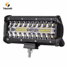 7 дюймов 120 W 72 W светодиодный свет работы бар Автомобильная лампочка для бездорожью грузовик 4WD 4×4 УАЗ внедорожник ATV рампа мотоцикла 12 V 24 V авто светодиодный светильник