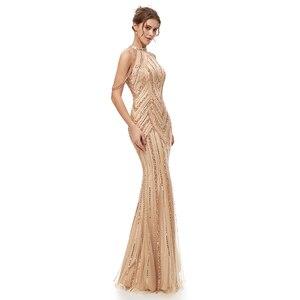 Image 3 - Женское вечернее платье в пол, элегантное роскошное длинное платье Русалка из фатина, вечерние платья в арабском стиле для выпускного вечера, WT5404