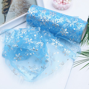 10Yard 15cm Tulle Roll Wedding Decoration Blue Sky White Snow Tulle Fabric Tutu Dress DIY Organza Baby Shower Party Supplies