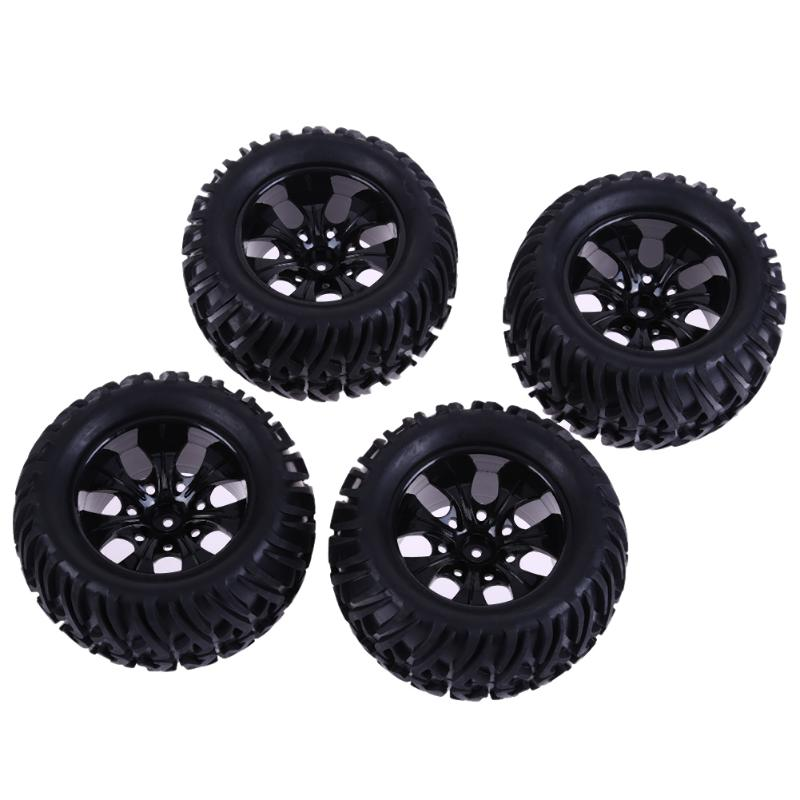 4pcs RC 1/10 Universal Rock Crawler Car Tires 115mm 55mm Monster Truck Tires T88005 RC Car Tire Wheel RC Parts mxfans rc 1 10 2 2 crawler car inflatable tires black alloy beadlock pack of 4