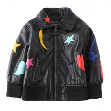 Kids Leather Jackets Brand Advanced PU Imitation Coat Fashion  Jacket Boys Soft Unique lifeful Outwear (3-12Yrs)