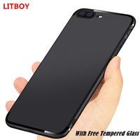 LITBOY Full Cover Soft Matte TPU Case for Apple iPhone 8 7 6 6S Plus Back Cover silicone case For iphone 7 Cover Simple Case