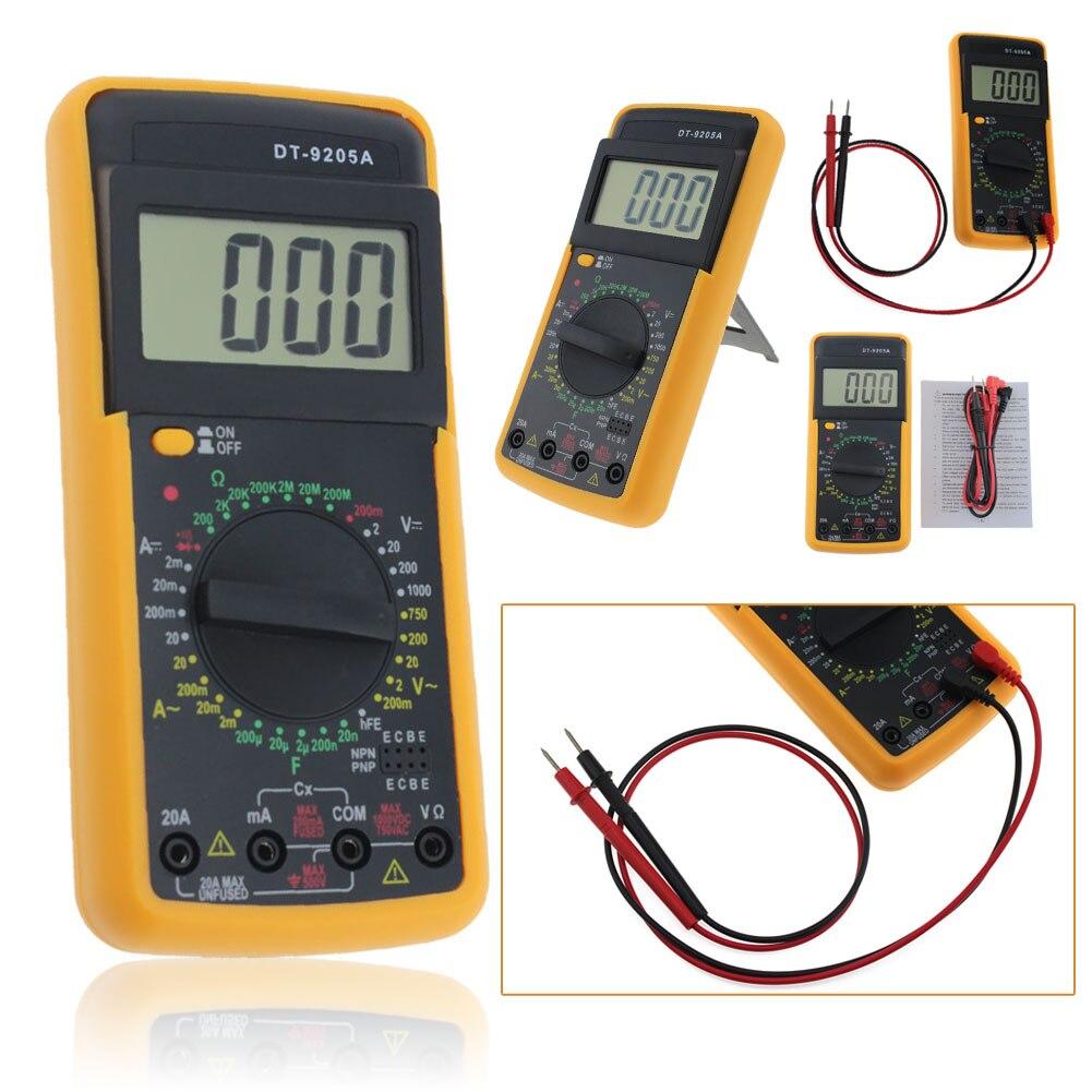 DT-9205A Digital Multimeter LCD AC/DC Volt Amp Resistance Capacitance Meter Tester Ammeter Voltmeter NG4S