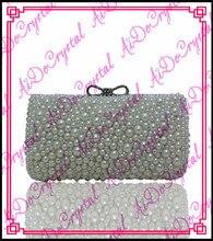 Aidocrystal weiß perlen damen handtasche und passenden sandale für party
