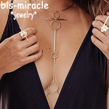 New style fashion jewelry accessories punk gold color  with round shape body chain for women sexy statement body chains  BN-24 цена