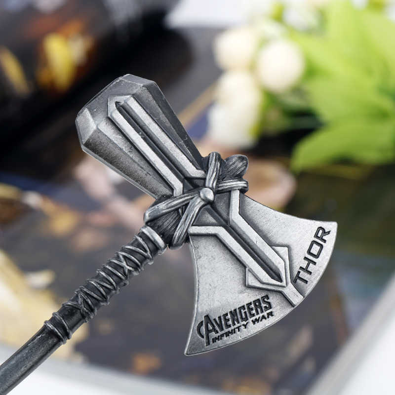 Dongsheng 2018 Infinity Guerra Thor Stormbreaker Ascia Keychian Cosplay Avengers 3 Thor Portachiavi Handmade Ascia Uomini Catena Chiave Regalo-50