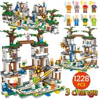 1228Pcs My World Bricks Compatible Legoingly Minecrafted the Mine Cave Figures Bricks Building Blocks Kids Christmas Gifts Toys