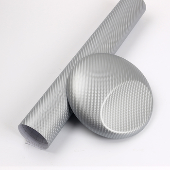 3D Carbon Fiber vinyl wrap colors wrapping with Air Bubble 1.52x30m/roll Silver