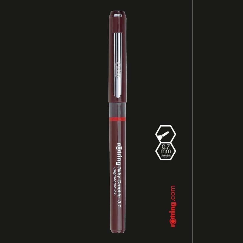 3pcs/lot Germany Rotring Tikky Graphic Pigmented Ink Fineliner Drawing Pen Sketch Marker Manga Architecture Design Stationeryliner penpigment liner penpigment pen -