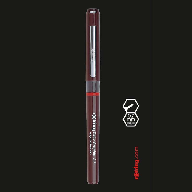 3pcs/lot Germany Rotring Tikky Graphic Pigmented Ink Fineliner Drawing Pen Sketch Marker Manga Architecture Design Stationery image