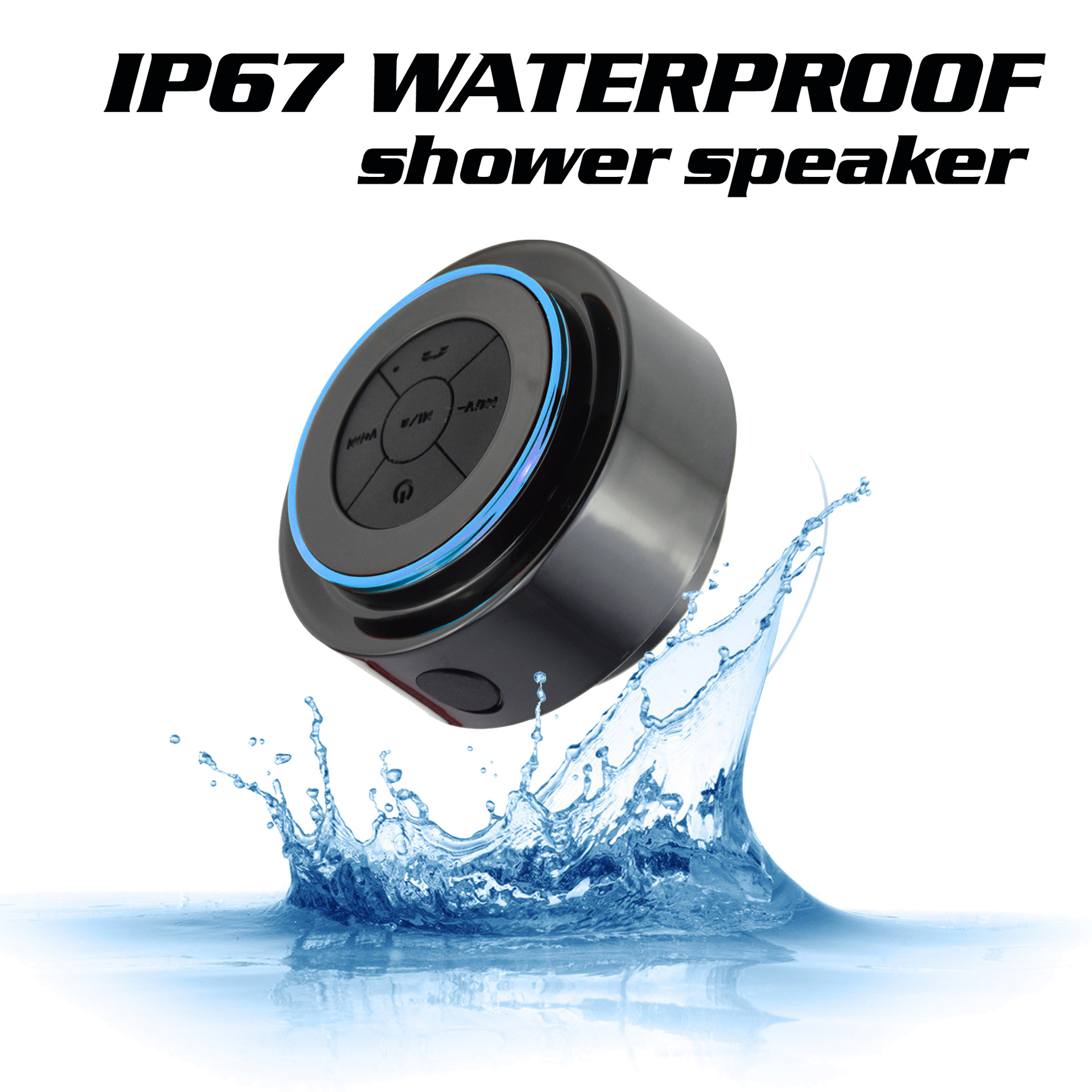 Portable suction cup Bluetooth speaker wireless speaker sound system 10W stereo music surround waterproof outdoor speaker in Portable Speakers from Consumer Electronics