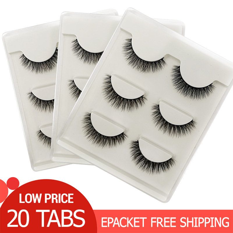 20 Boxes Eyelashes Wholesale Mink Lashes Natural Mink Eyelashes Full Strip Lashes Makeup Wholesale False Eyelashes 3d Mink Lash