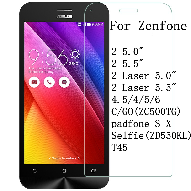 Tempered Glass For Asus Zenfone 2 Laser ZE500KL ZE550KL ZE500CL ZE550ML Go ZB500KL 3 Max ZC520TL ZB452KG ZE520KL 9H Film Case(China)