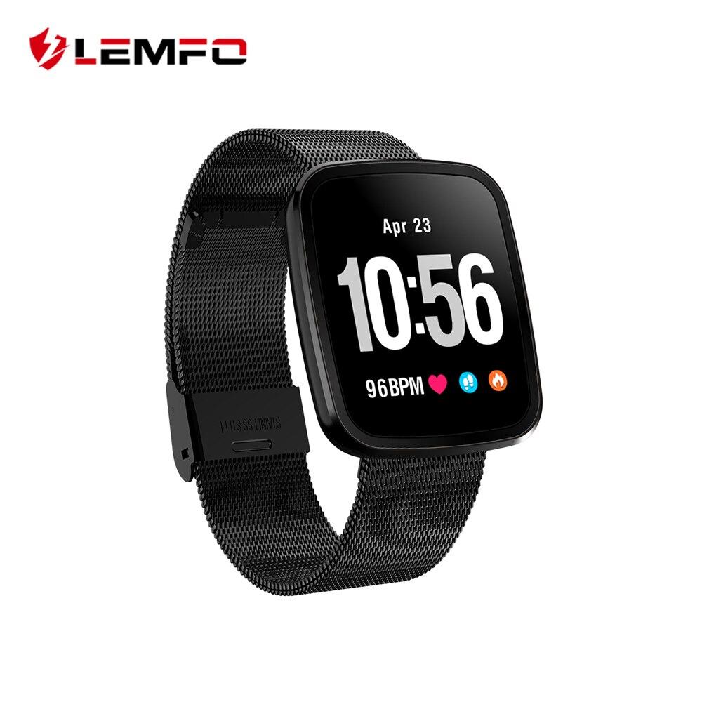 LEMFO profesional Deporte Fitness pulsera saludable banda inteligente presión arterial Monitor de ritmo cardíaco reloj 15 días de espera para hombres