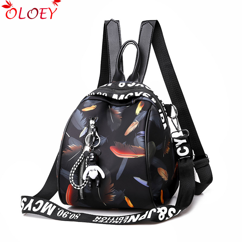 New Fashion Women 2019 Backpacks Small Waterproof Oxford Backpack Female Cute Schoolbags For Girls Bagpack Mochils Mujer