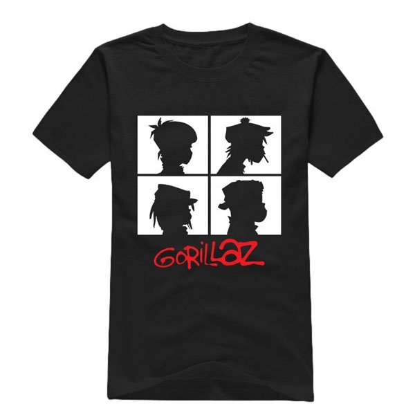 Male Rock Band Chakakhan Noodle Murdoc Russel Short Sleeve Gorillaz Men T Shirts Ringer Fashion Streetwear T-Shirt