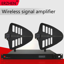 Wireless microphone amplifier antenna receives signal amplification distance of 500 meters. 8-channel enhanced annunciator