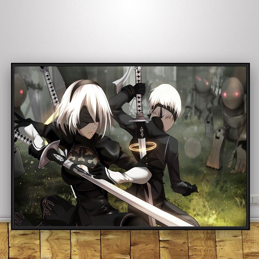 Automata Art Silk Poster 12x18 24x36 Hot Japan Anime Game NieR