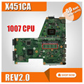 X451CA материнская плата REV2.0 1007U для ASUS X451C F451 F451C lapto материнская плата X451CA PN-60NB0330-MB3060 X451CA материнская плата 100% ОК