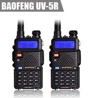 Baofeng Uv 5R Walkie Talkie 5W Dual Band 136 174mhz 400 470mhz Portable Ham CB Radio