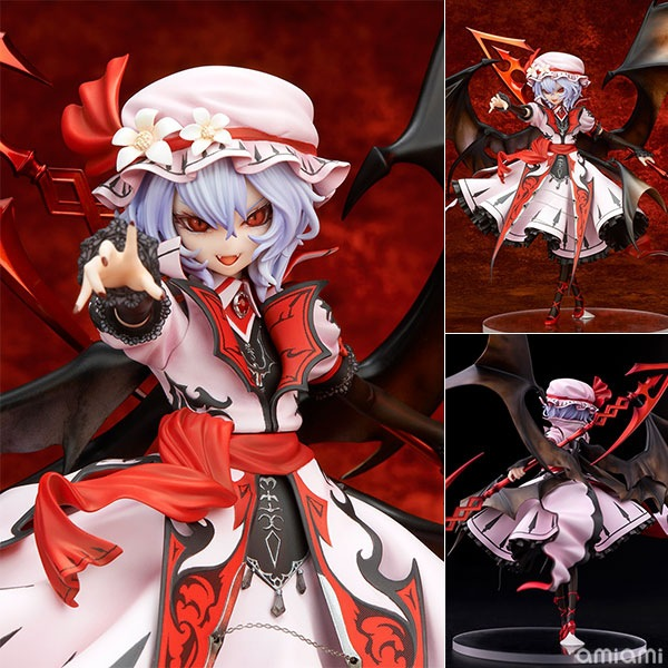 TouHou Project Action Figure Remilia Scarlet Vampire PVC 240mm Anime TouHou Project Collectible Model Toy new arrival remilia scarlet griffon touhou project 1 7 scale 22 5cm action figure