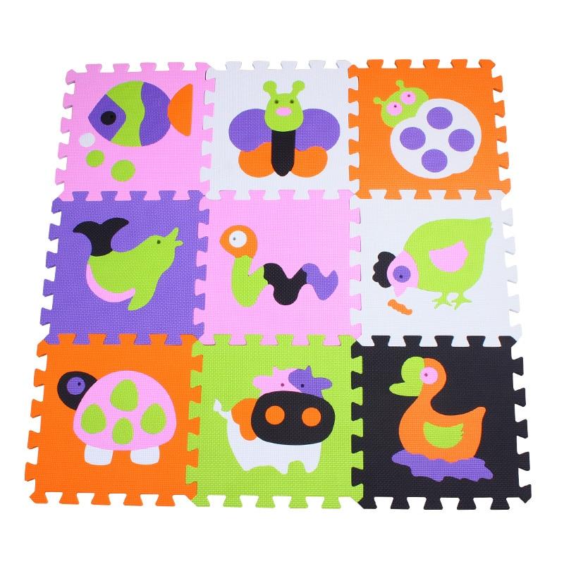 Mei Qi Cool 9 Piece Play Mat Bath Room Door Baby Floor Puzzle Mat