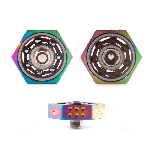 vape spinner atomizer gyro toy 24mm black silver gold rainbow in